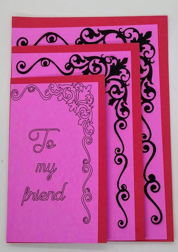 first layer of the three layer friendship card