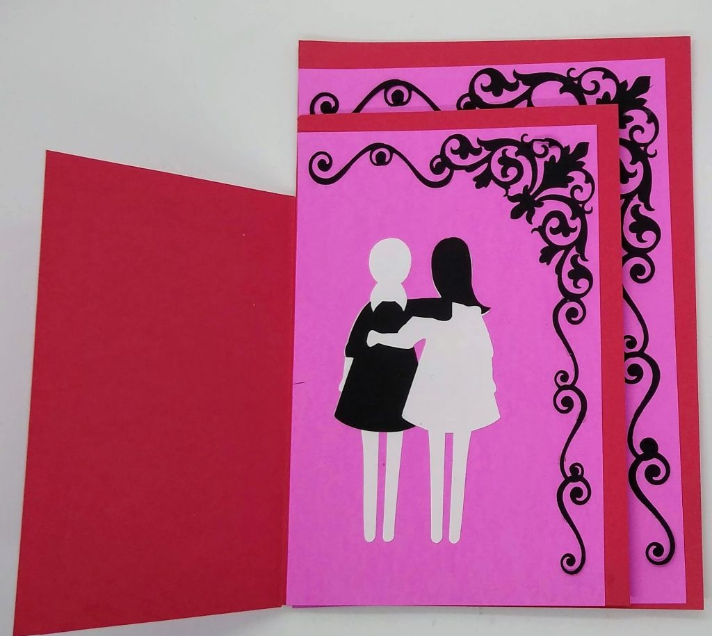 Second layer of the three layer friendship card