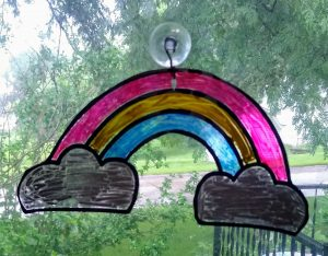 Regular Pride Rainbow Sun Catcher