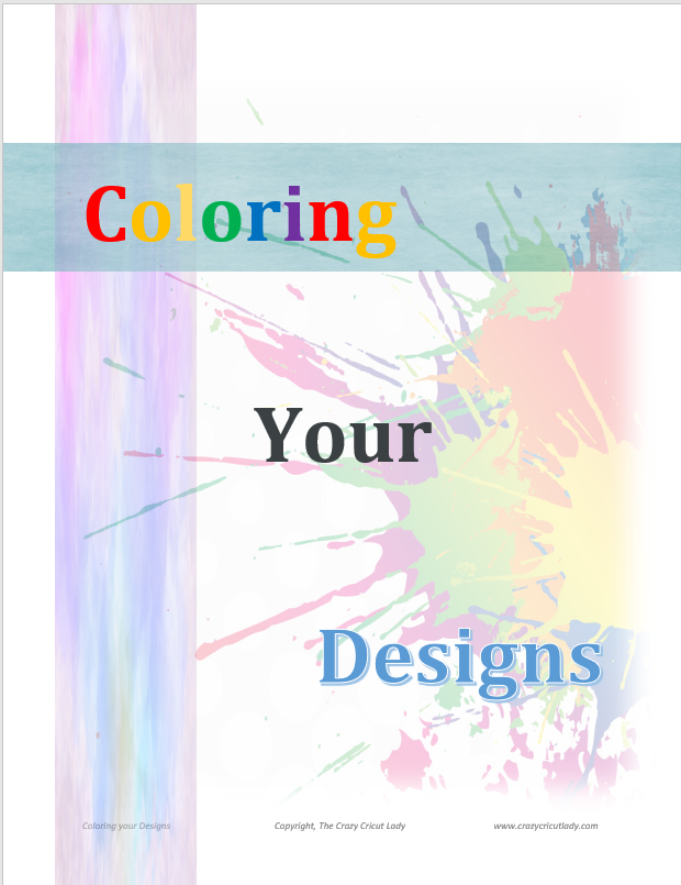 Cover of coloring your Designs