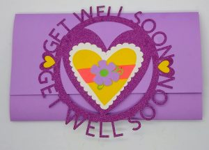 Get Well Soon Daisy Circle Card Closed