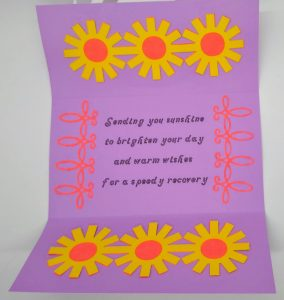 Inside of Get Well Soon Daisy Circle Card