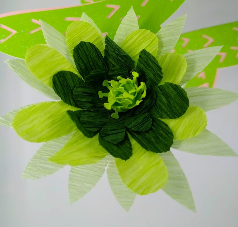 Crepe Paper Cactus Flower
