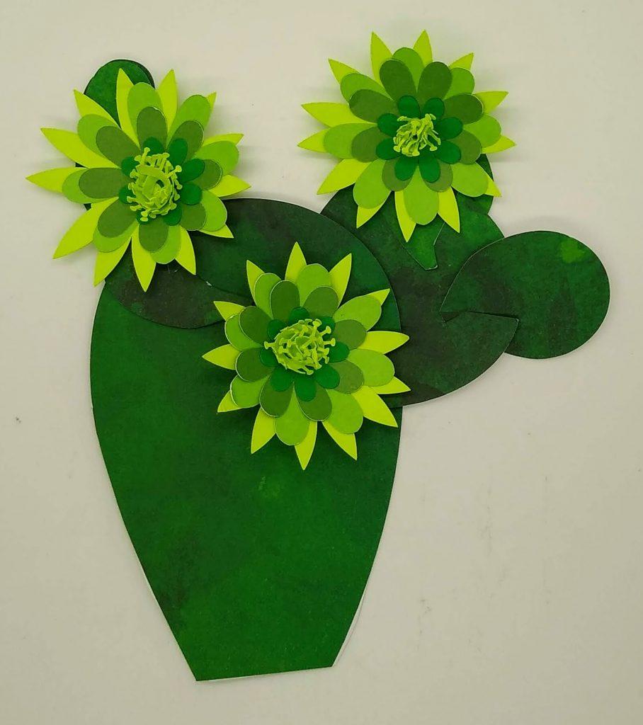 Paper Cactus Flower on a cactus