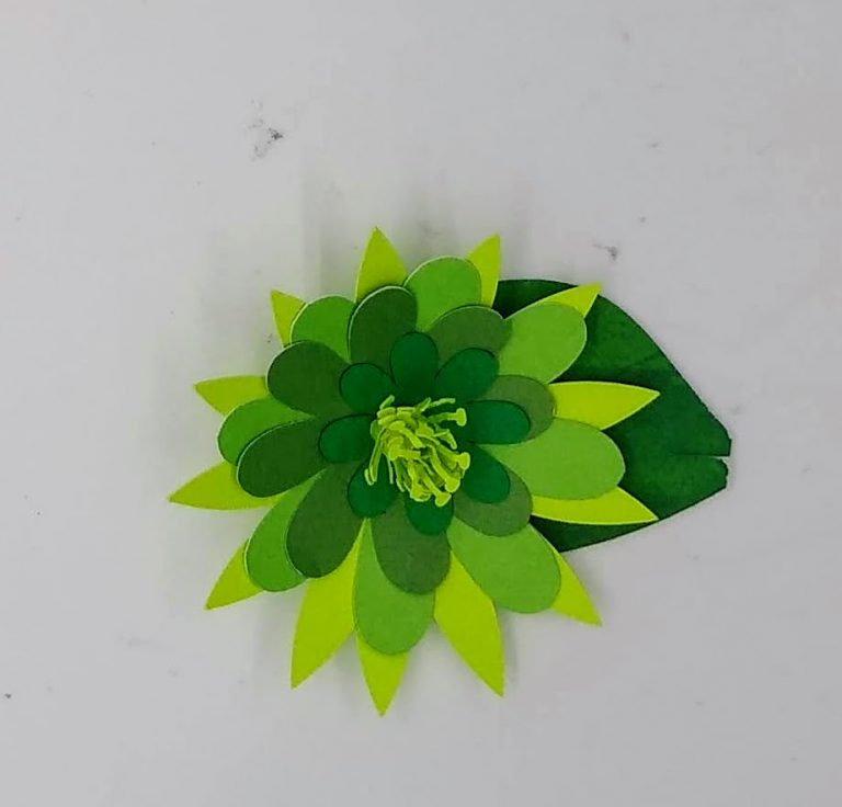 paper cactus flower made from cardstock