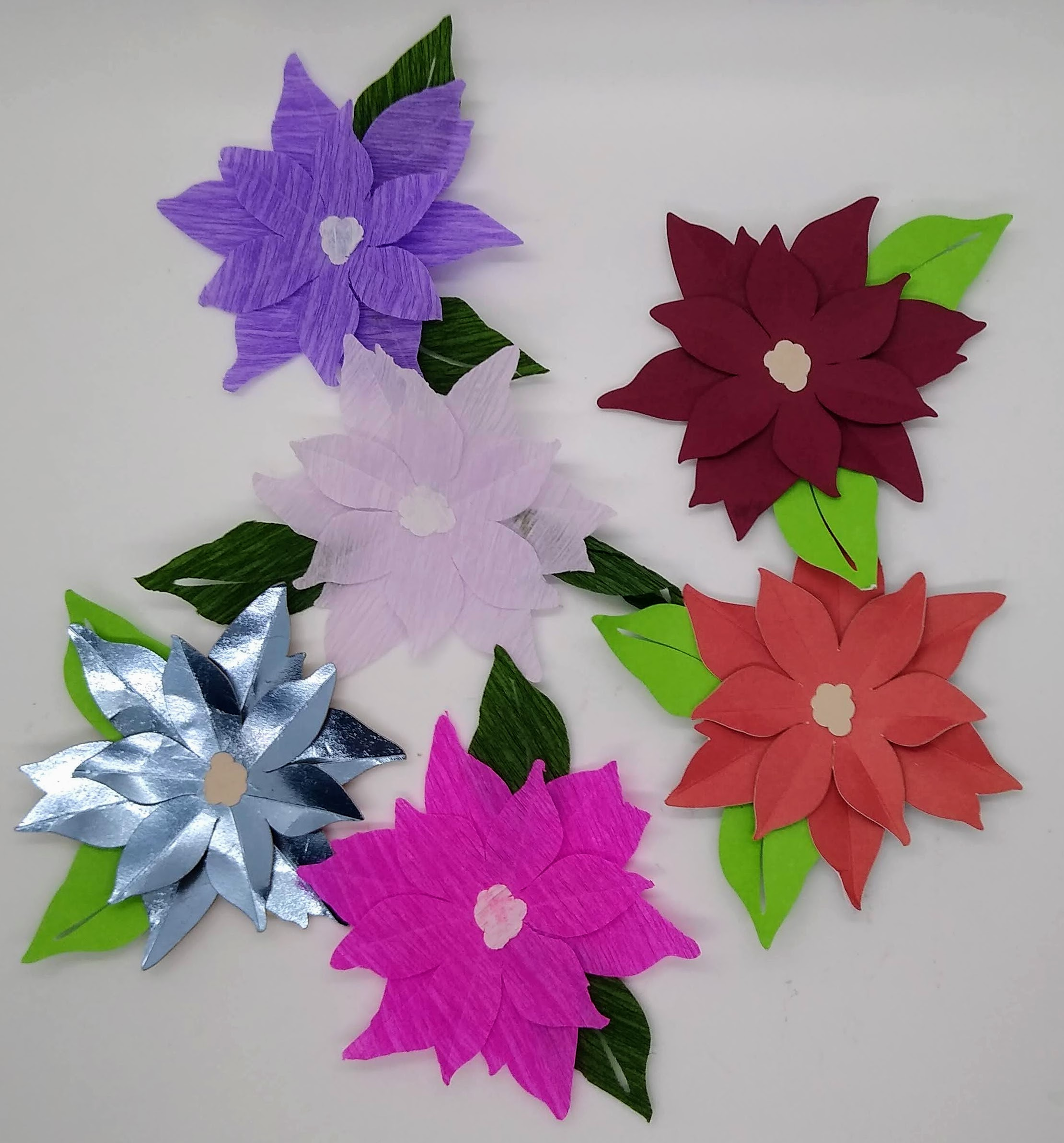 Make these Paper Poinsettias 2020