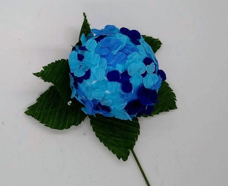 Whole ball blue paper hydrangea