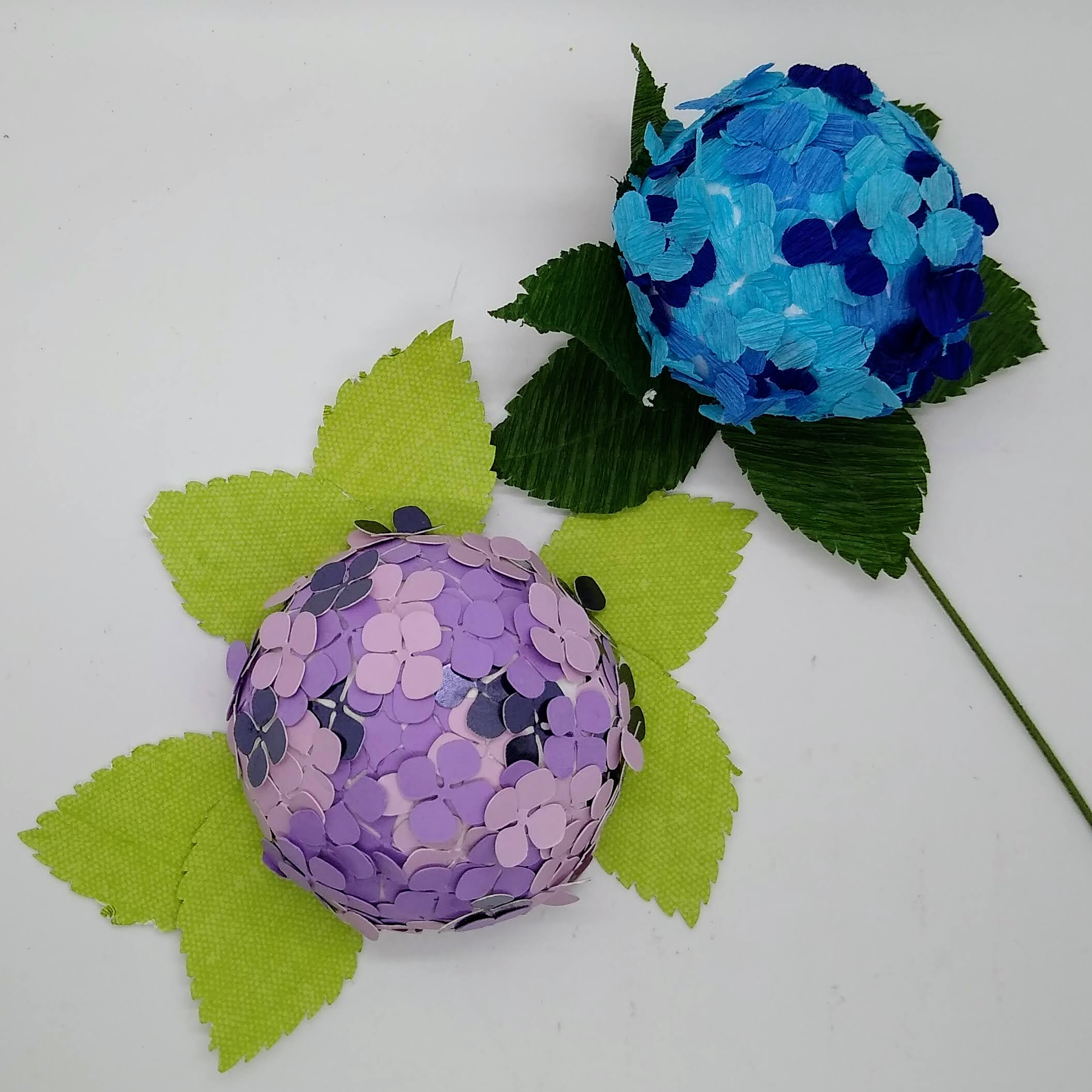 The Easy Way to Make a Paper Hydrangea