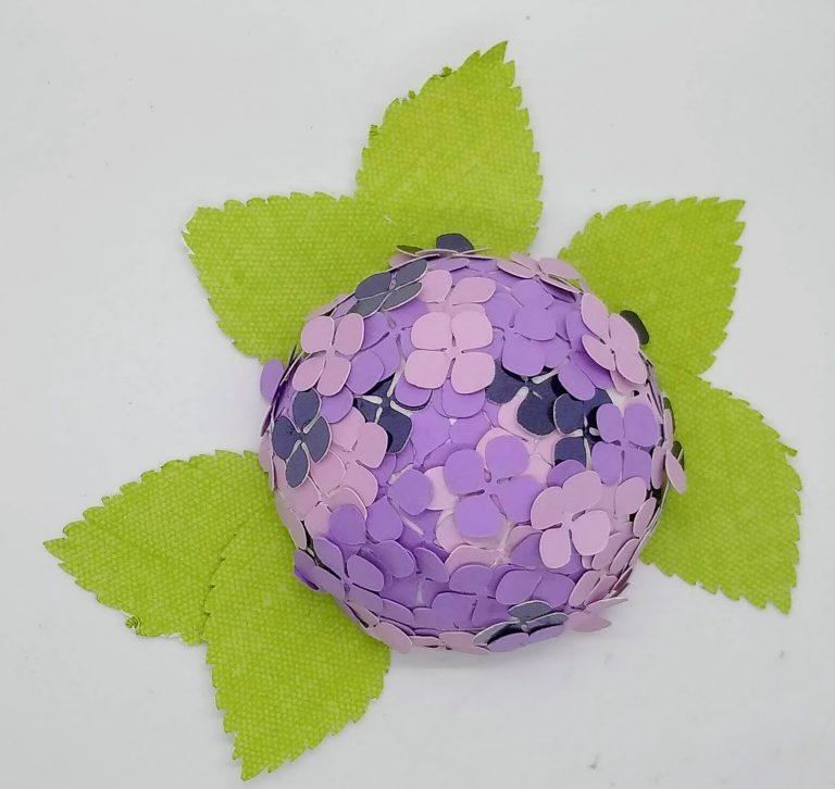 Half ball paper hydrangea in purple