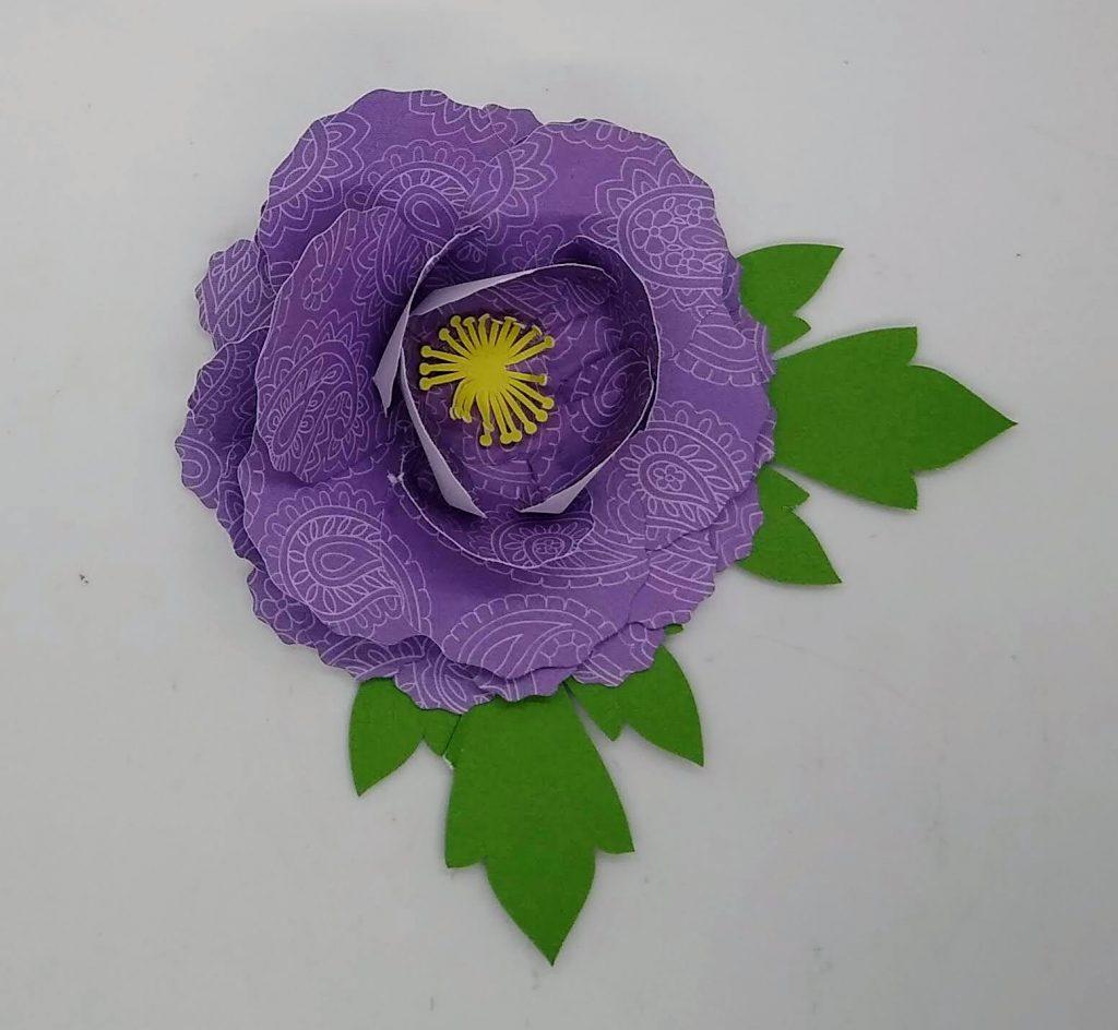 the cardstock paper peonies made in purple