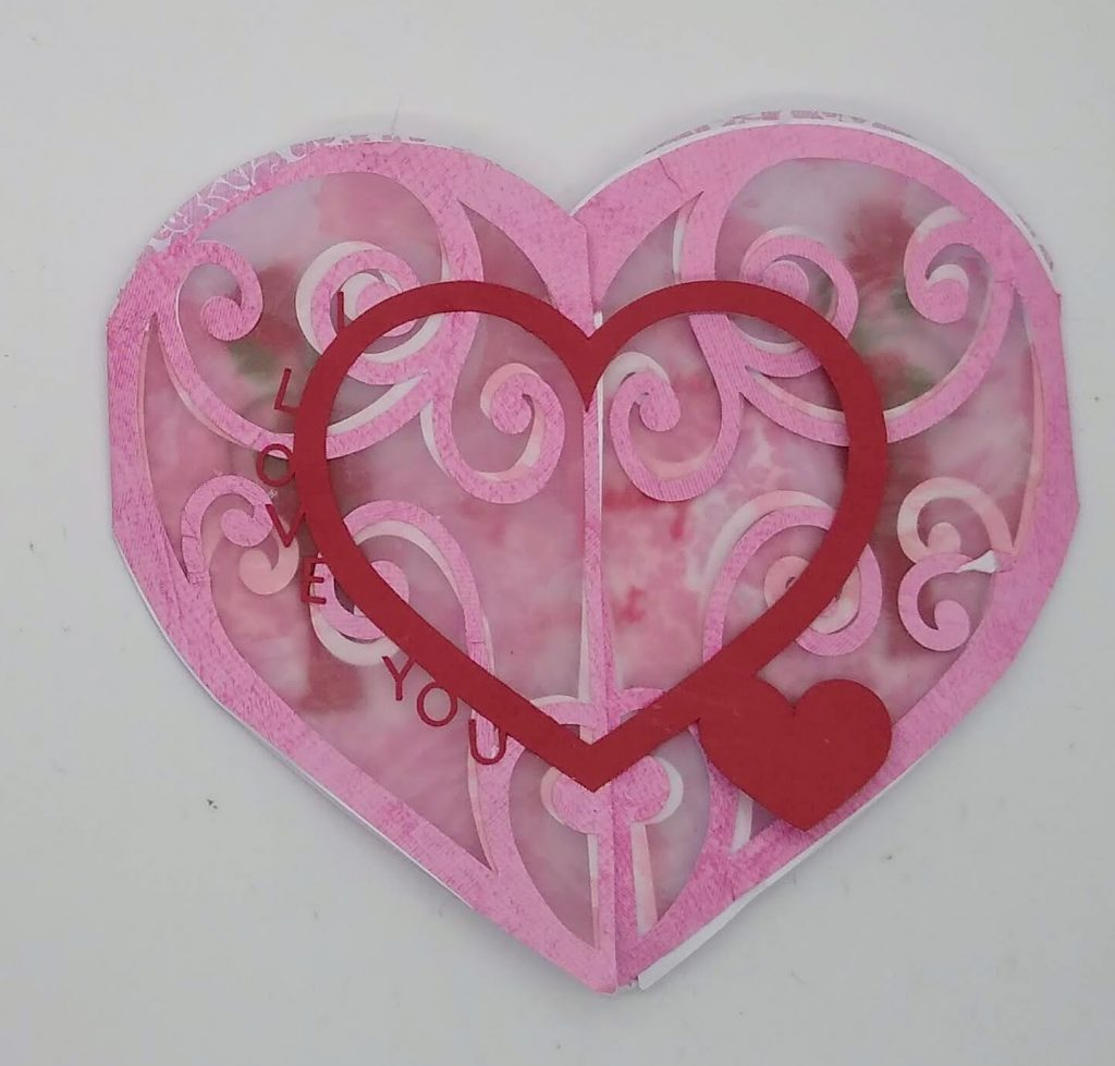 Gatefold I Love You heart circle card