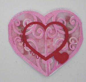 Gatefold I Love You heart circle card