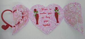 Gatefold I Love You heart circle card open