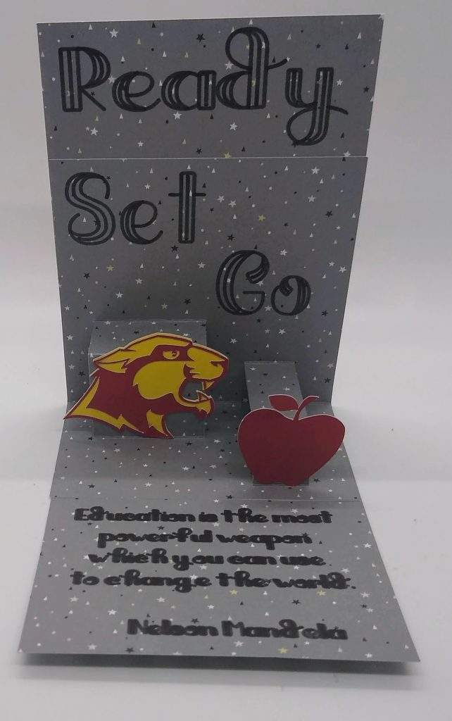 Back to School pop out card