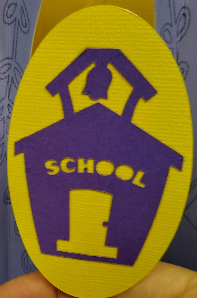 Other side of twirl of Back to School Twirl Card