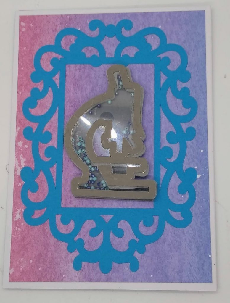Bonus Card Designs microscope shaker card