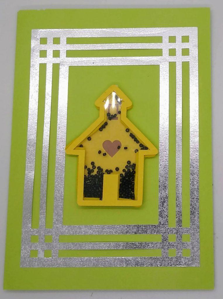 Bonus Card Designs school house shaker card
