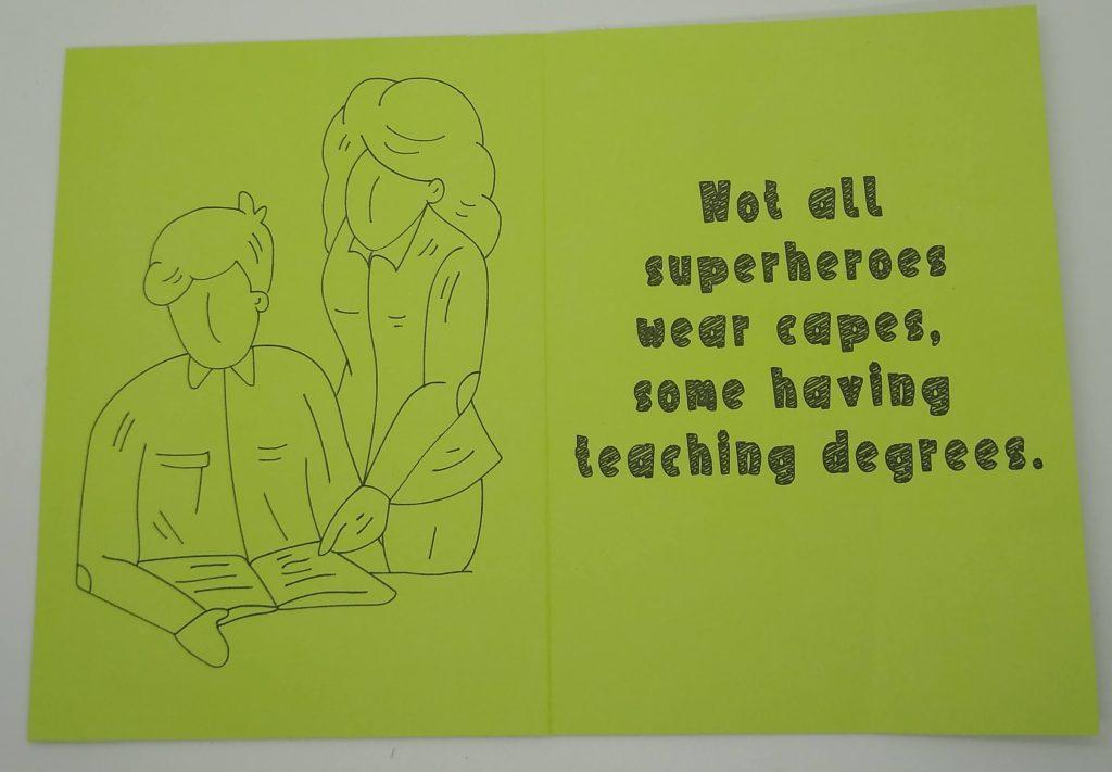 Teacher Appreciation Bonus Card Design