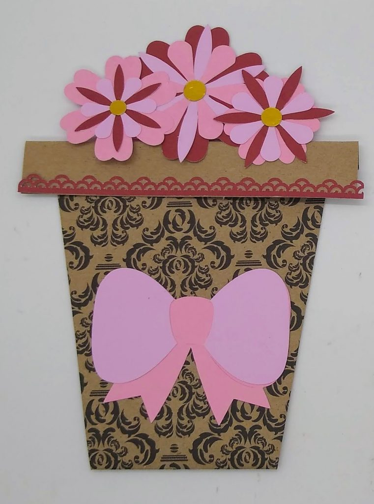 Teacher appreciation flower pot card