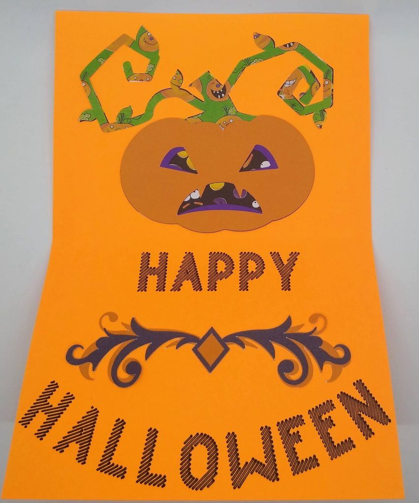 Halloween gnome card inside