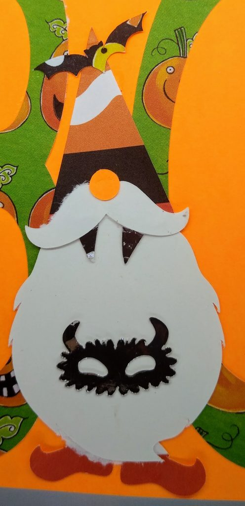 Halloween gnome card - second gnome