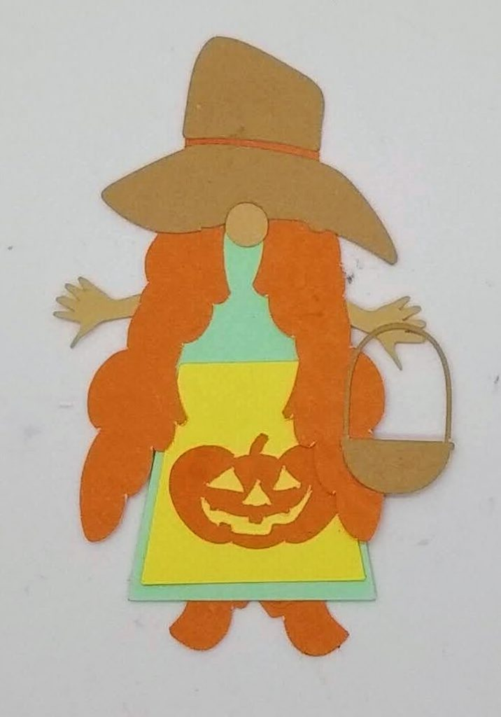 Fall Harvest female Halloween gnome