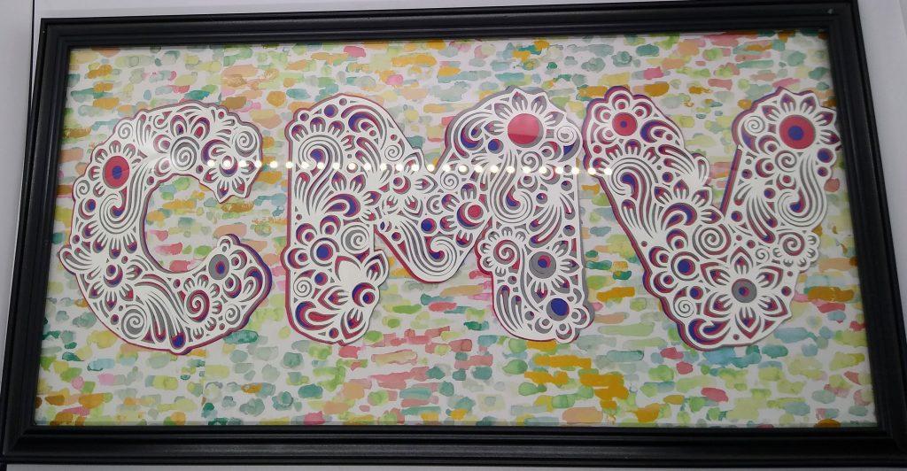 Framed Layered monogram mandala