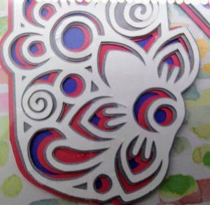 Layered monogram mandala