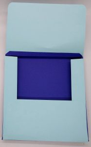 custom envelope with 1/2 inch box