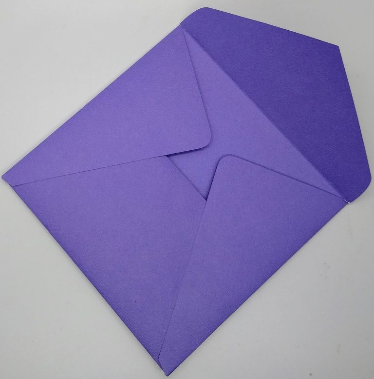 Custom envelope with end cut off