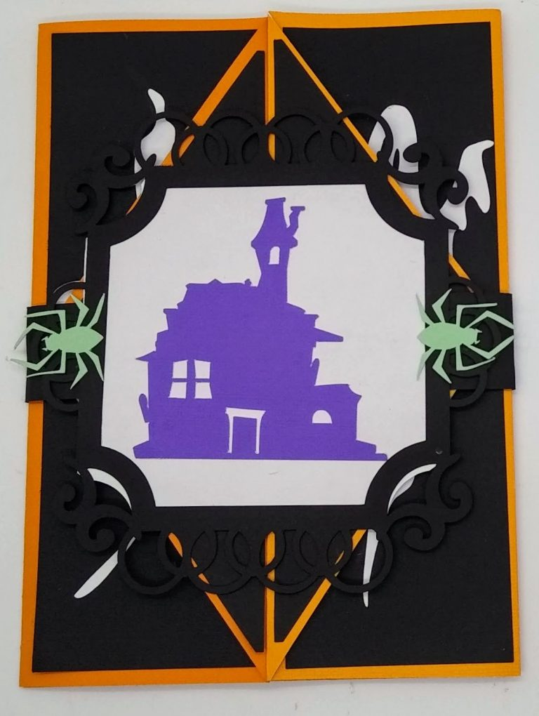 halloween gatefold card with card band attached
