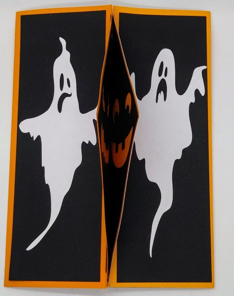 halloween gatefold card