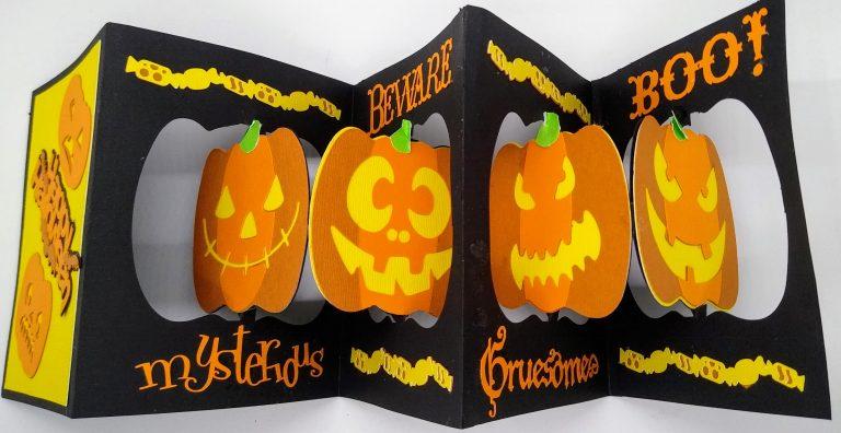 Accordion Pumpkin Card Open