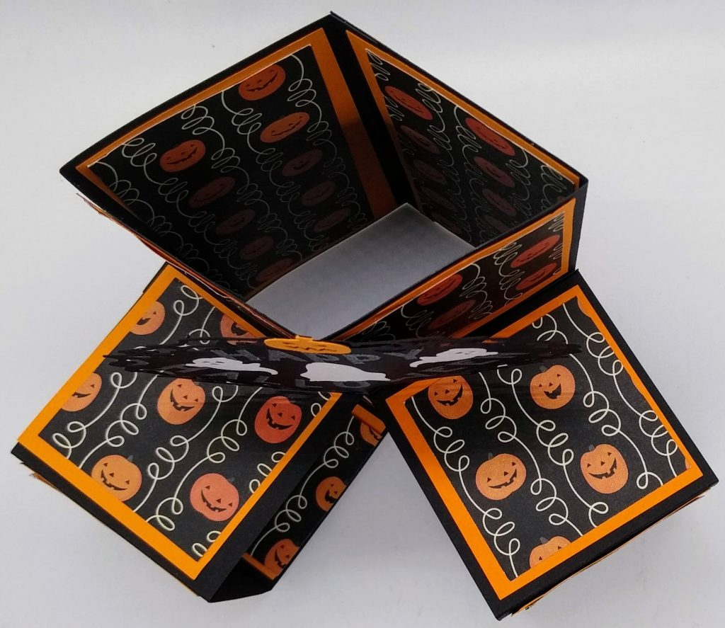 Top View of Pop Out Cube Halloween Cube