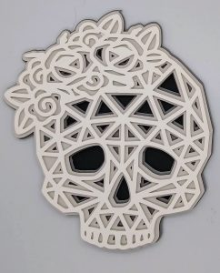 Halloween Skull Layered Mandala without background