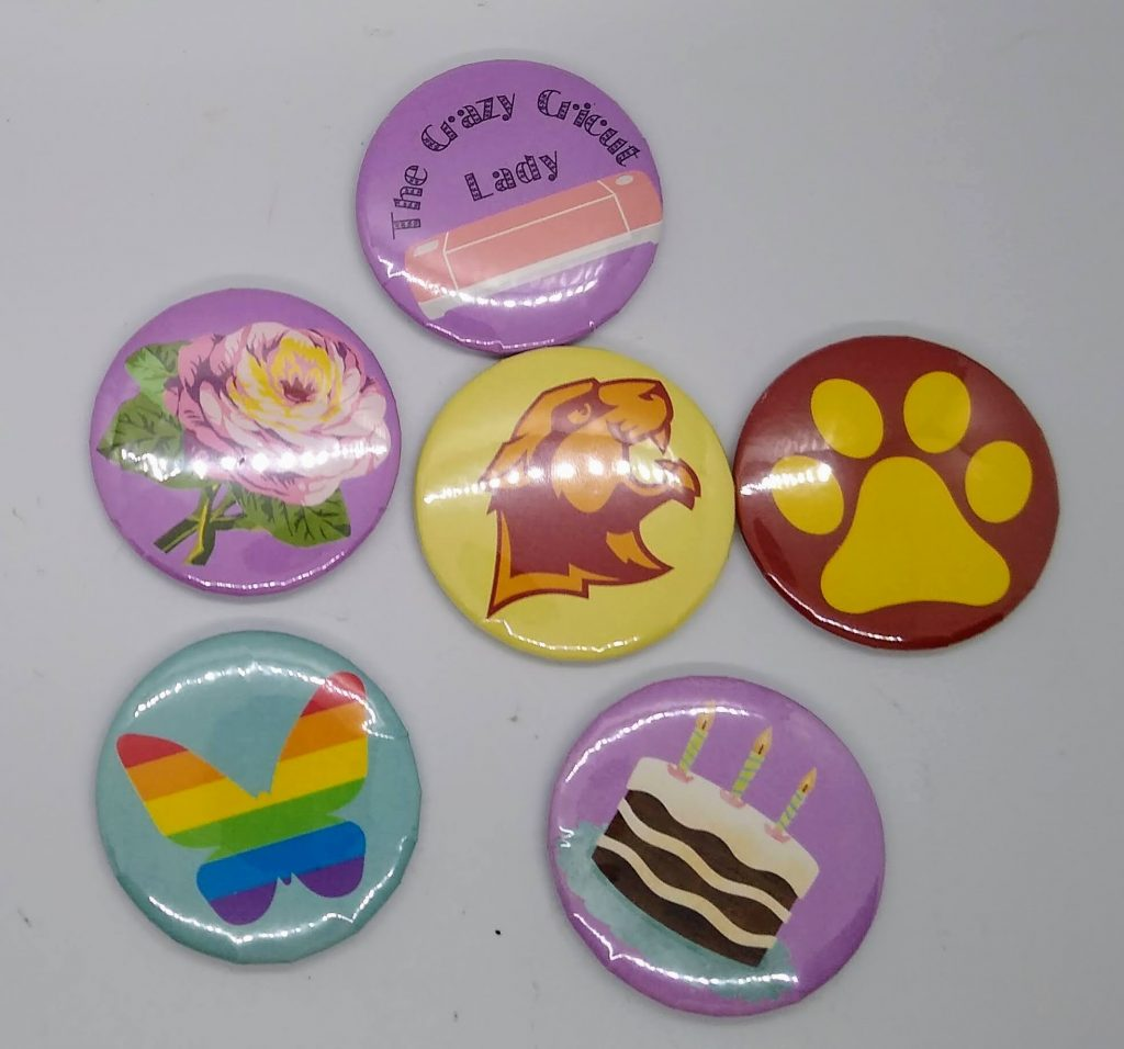 Make buttons or stickers. These are other designs