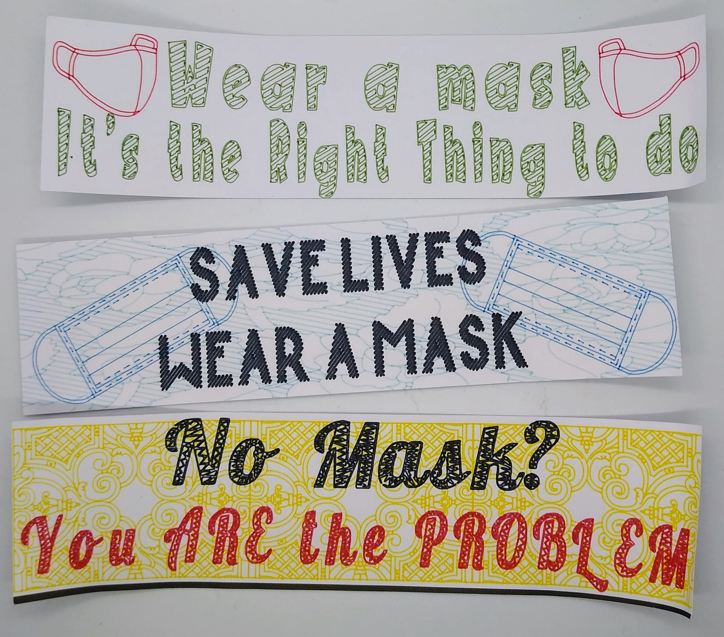 Mask Stickers: Everyone Hasn\'t Gotten It Yet