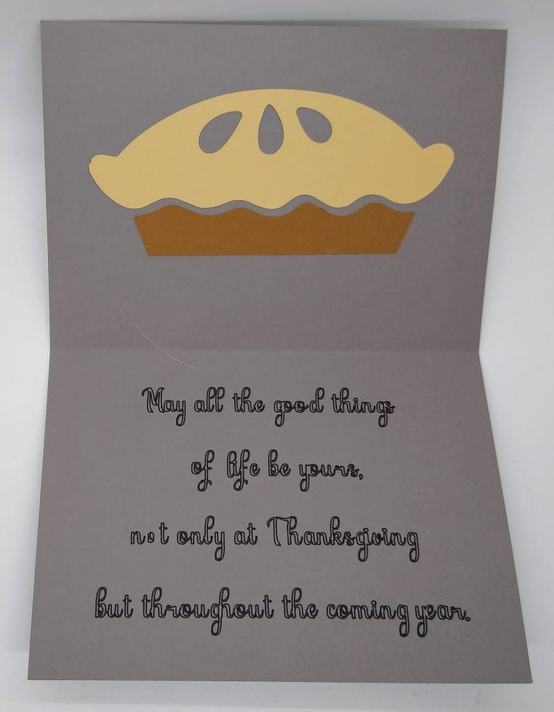 Inside Simple Thanksgiving Card
