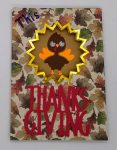 Front of the Thanksgiving Burst Card with a cute turkey