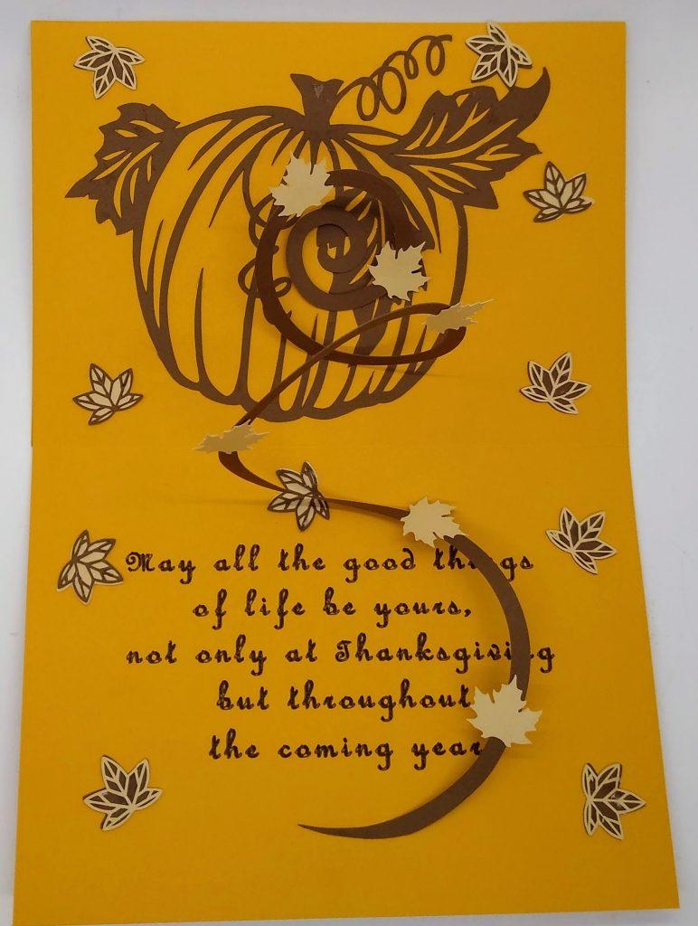Inside of Thanksgiving Swirl Card