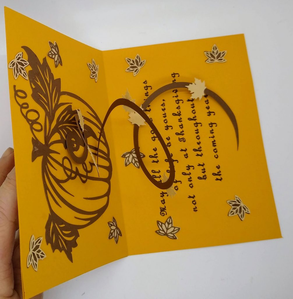 overhead view of Thanksgiving Swirl Card