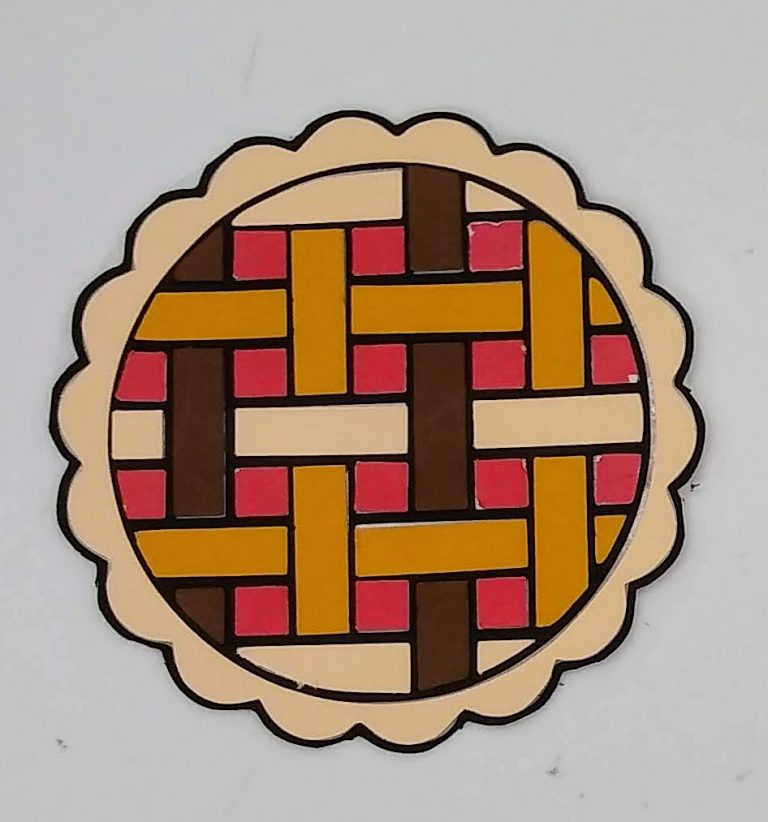 Thanksgiving Coloring with Paper pie