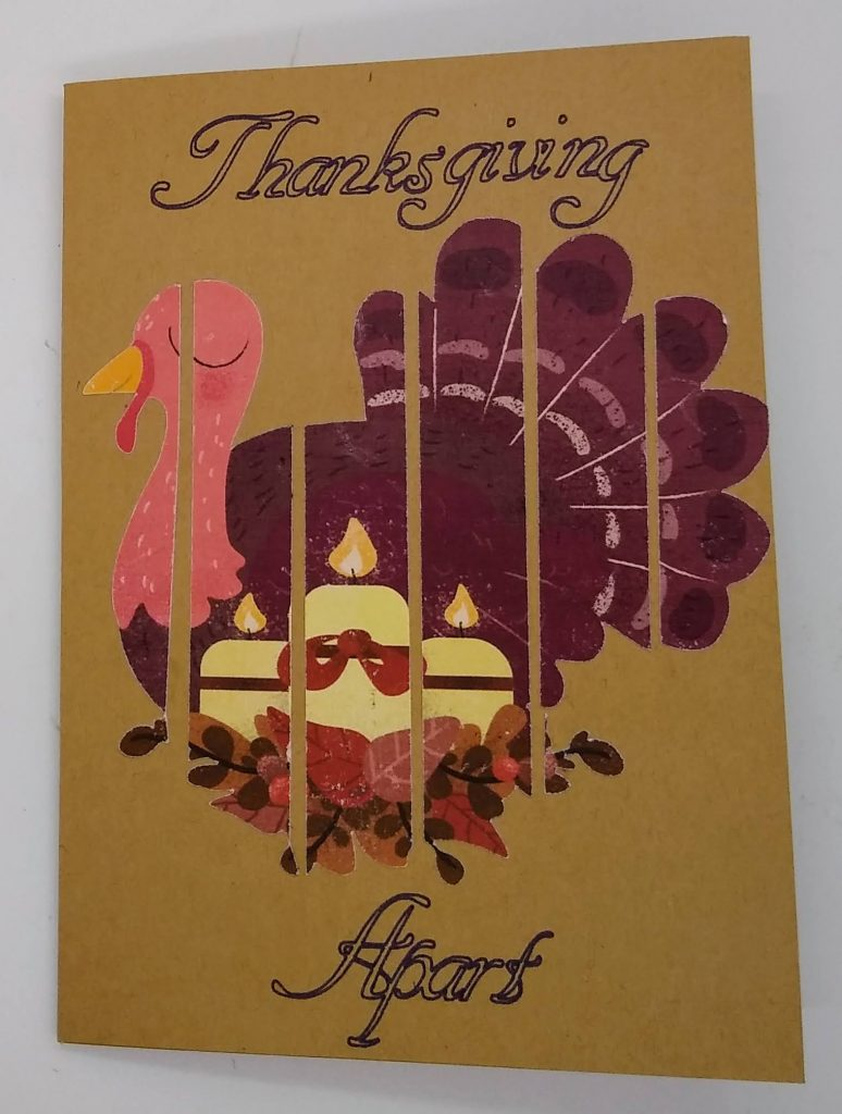 Front of the Thanksgiving Apart card