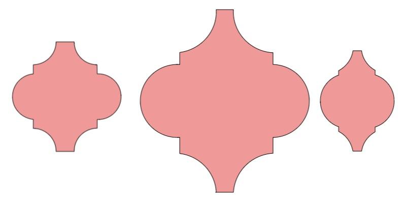 Sizing your Arabesque Ornaments - the sizes I needed