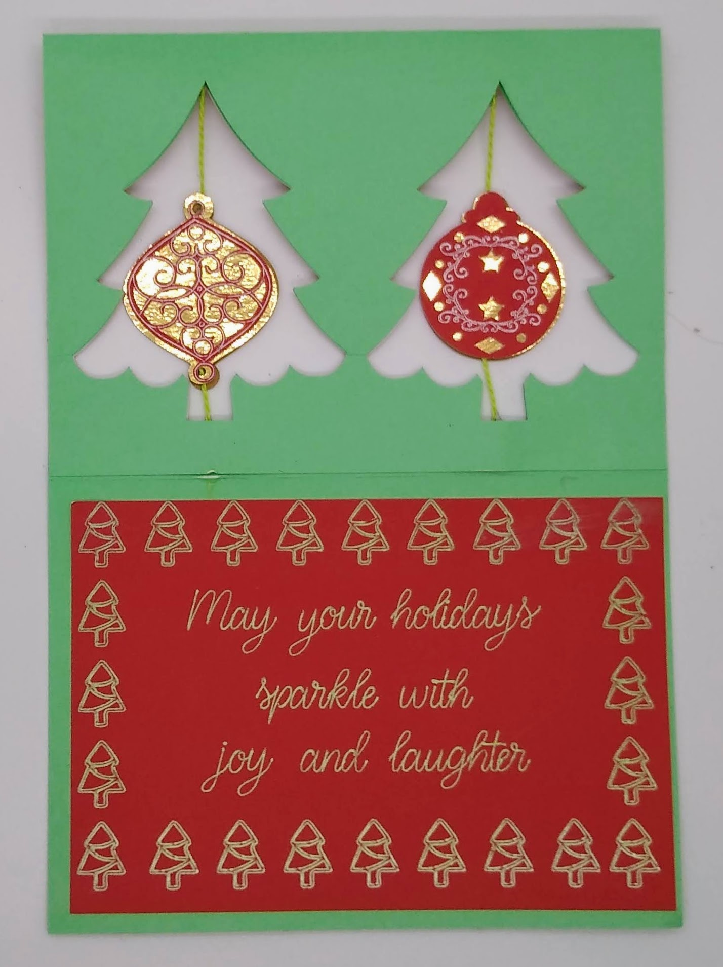 Impressive!  Double Twirl Ornament Card