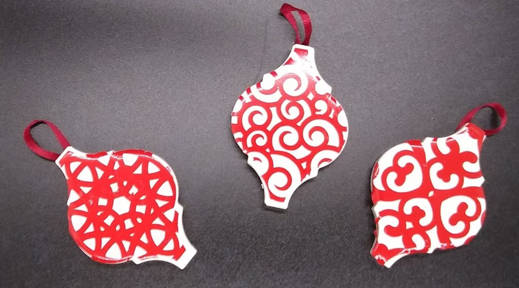 Decorating your Arabesque ornaments - small size