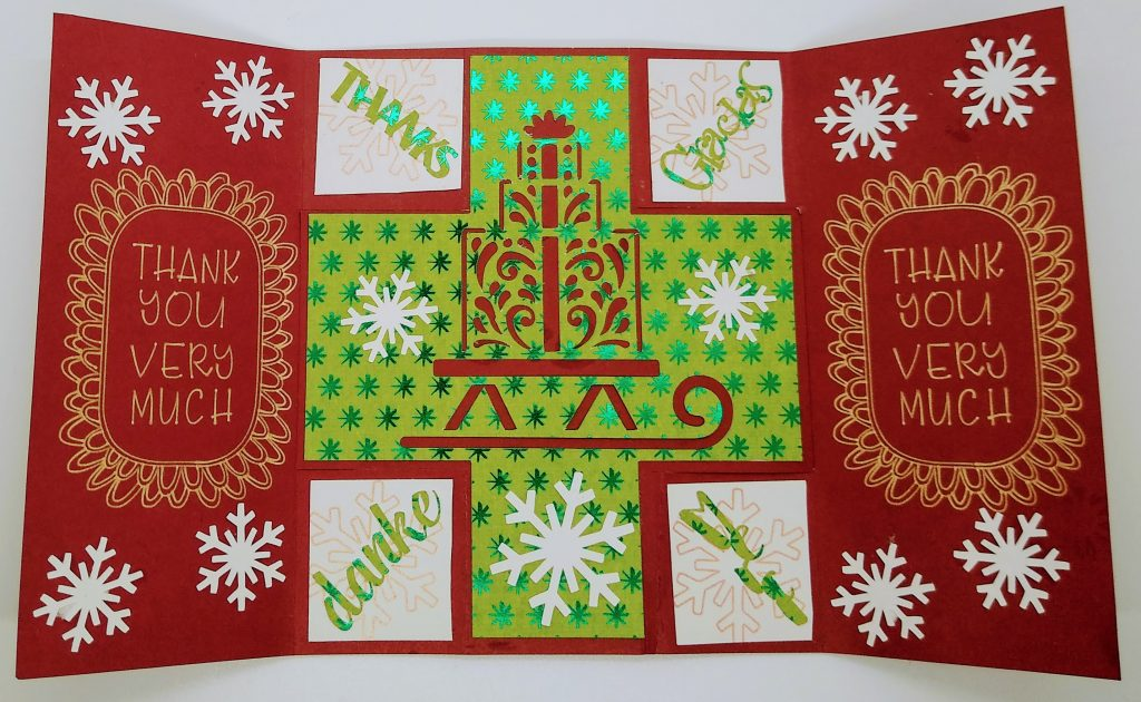 Flat Christmas Thank You Card