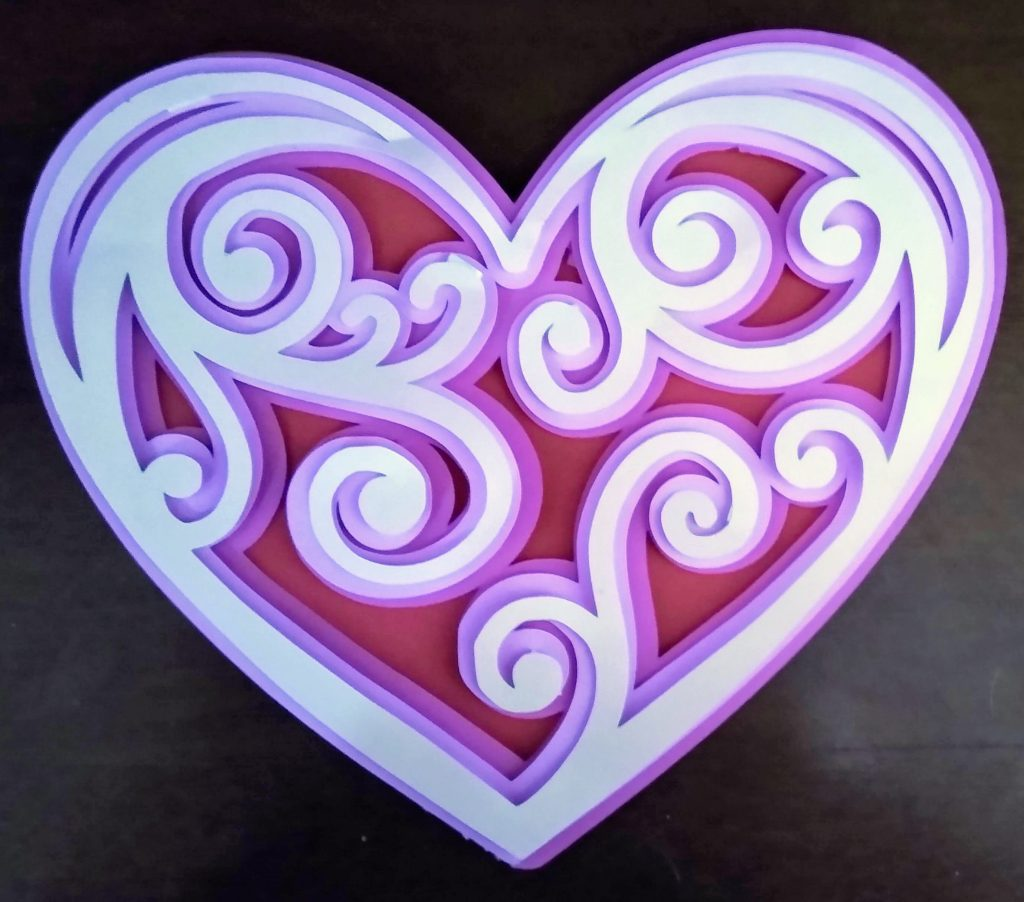 Simple heart layered mandala for valentines