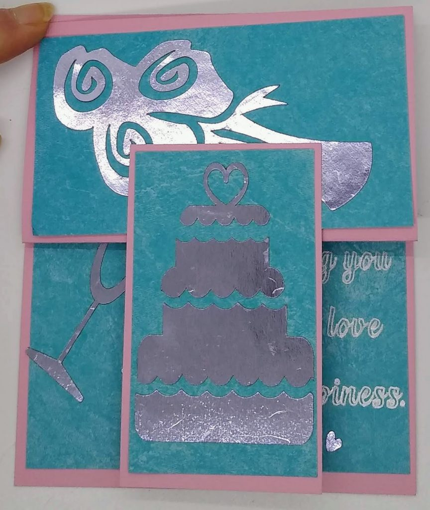 Wedding Easel Card closed