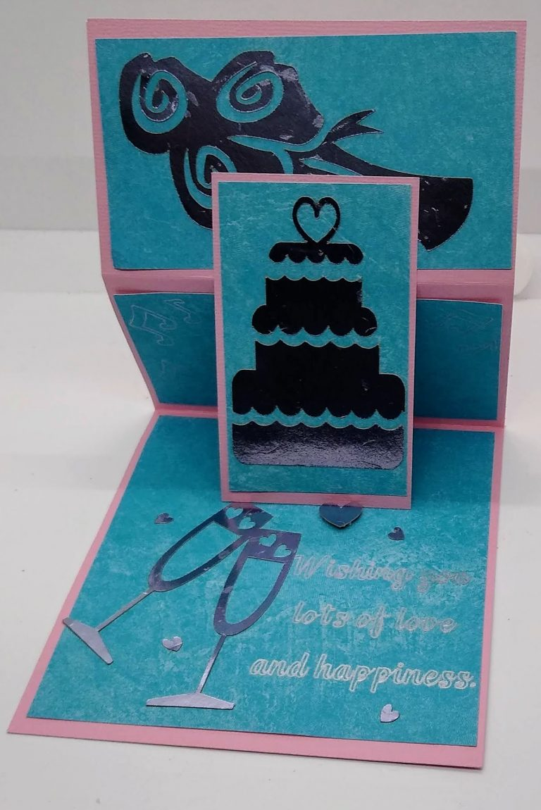 Wedding Easel Card set up